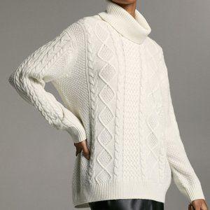 Babaton Erickson Turtleneck Cable-knit Oversized S